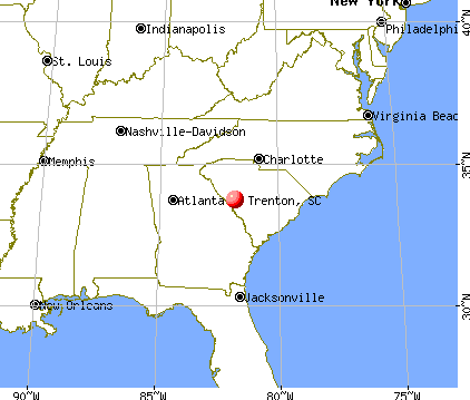 Trenton, South Carolina map
