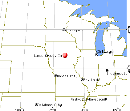 Lambs Grove, Iowa map