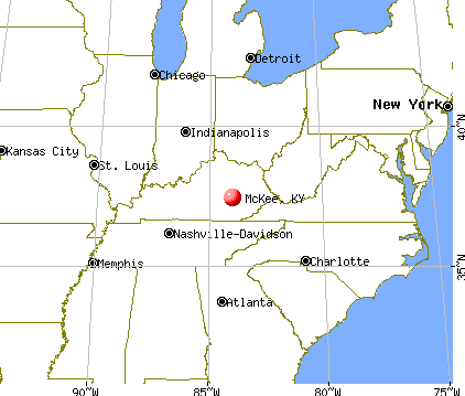 McKee, Kentucky map