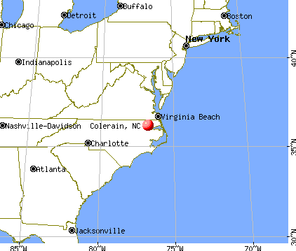 Colerain, North Carolina map
