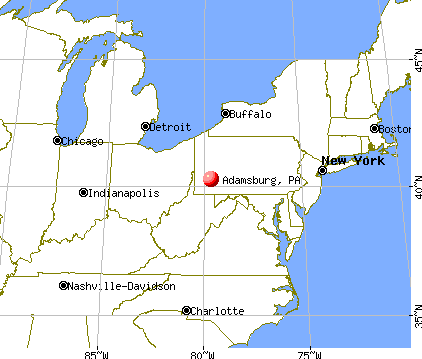 Adamsburg, Pennsylvania map