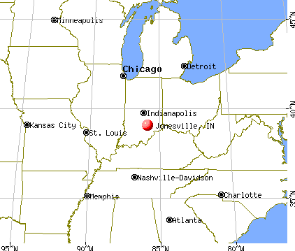 Jonesville, Indiana map