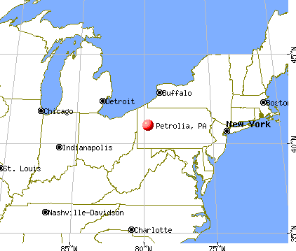 Petrolia, Pennsylvania map