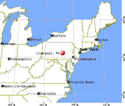 Liverpool, Pennsylvania map