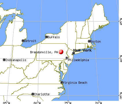 Brandonville, Pennsylvania map