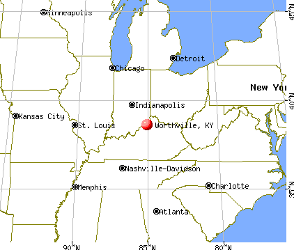 Worthville, Kentucky map