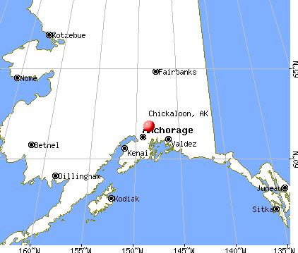 Chickaloon, Alaska map