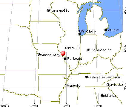 Eldred, Illinois map