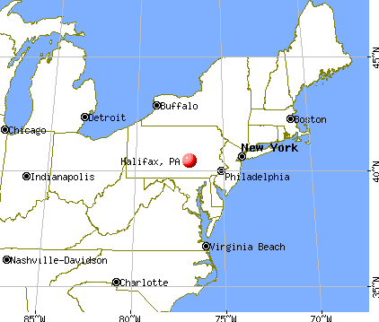 Halifax, Pennsylvania map