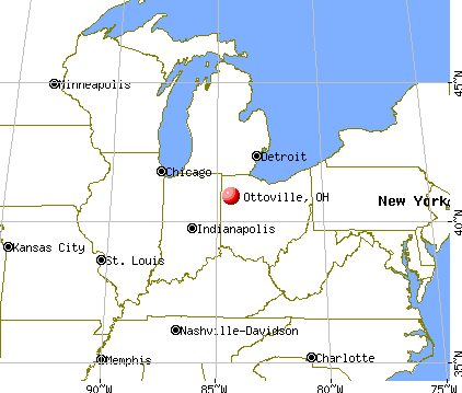Ottoville, Ohio map