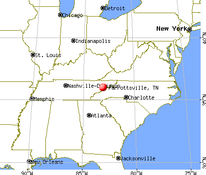 Parrottsville, Tennessee map