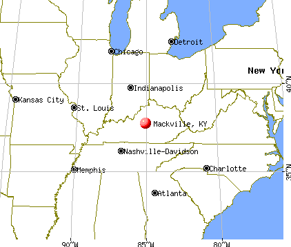 Mackville, Kentucky map