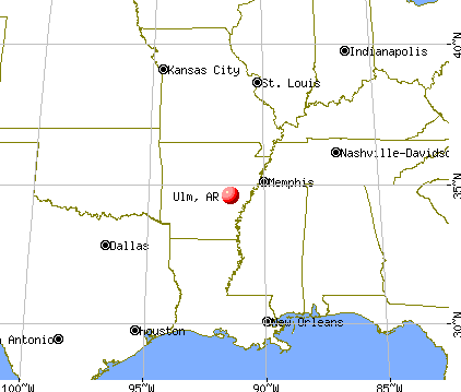 Ulm, Arkansas map
