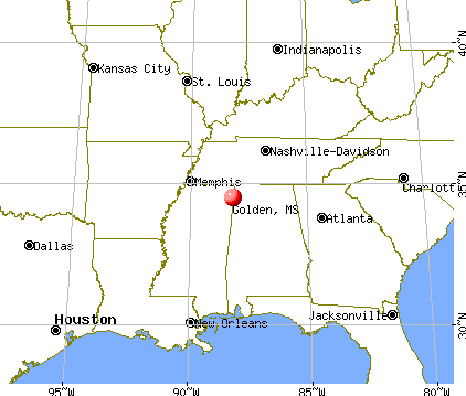 Golden, Mississippi map