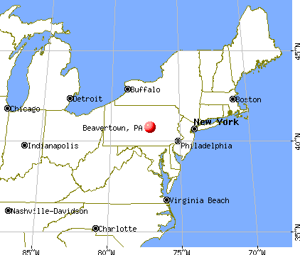 Beavertown, Pennsylvania map