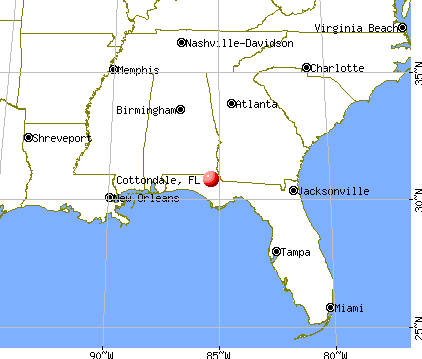 Cottondale, Florida map