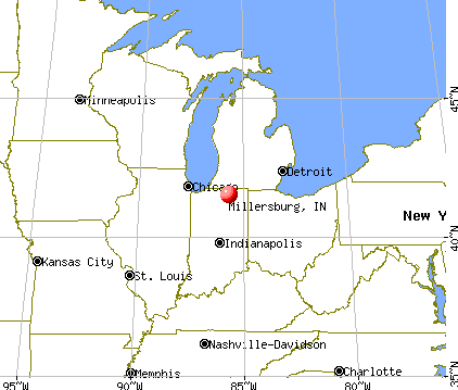 Millersburg, Indiana map