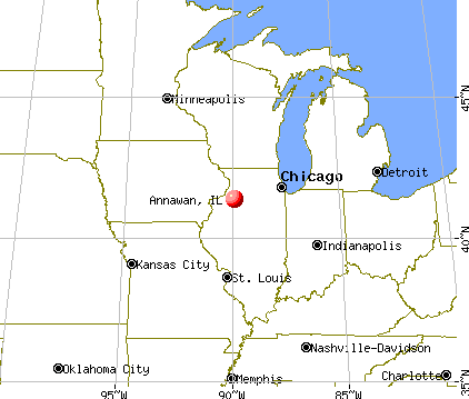 Annawan, Illinois map