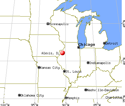 Alexis, Illinois map