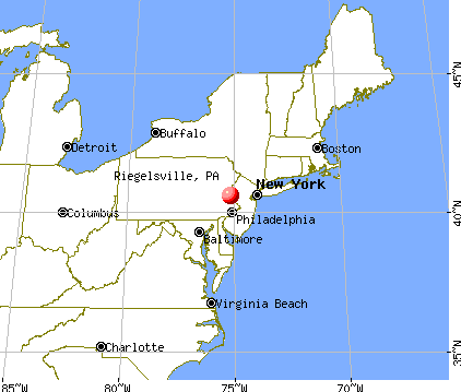 Riegelsville, Pennsylvania map