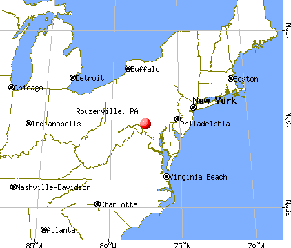 Rouzerville, Pennsylvania map