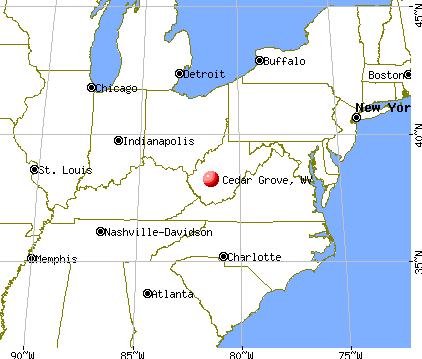 Cedar Grove, West Virginia map
