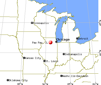 Paw Paw, Illinois map