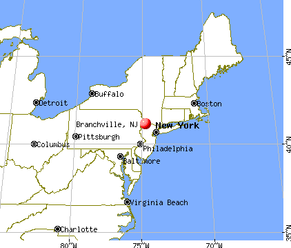 Branchville, New Jersey map