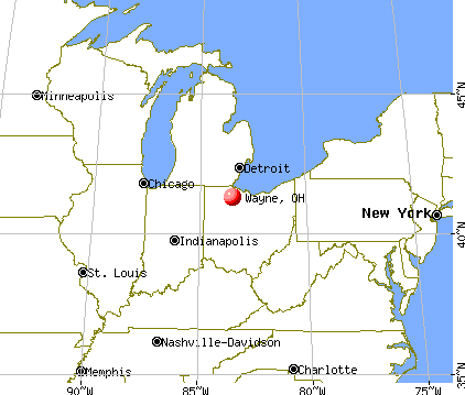 Wayne, Ohio map