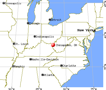 Chesapeake, Ohio map