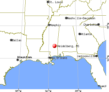 Heidelberg, Mississippi map