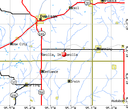 Manilla, IA map