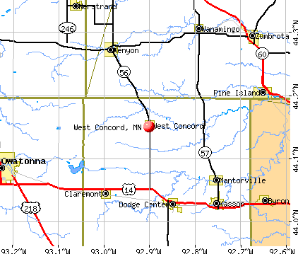 West Concord, MN map