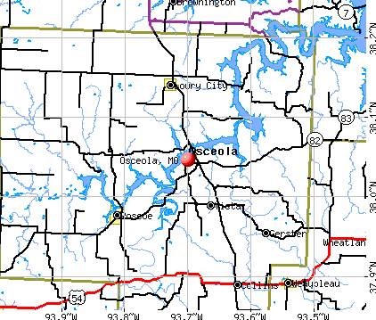 Osceola, MO map