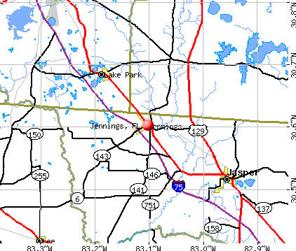 Jennings, FL map