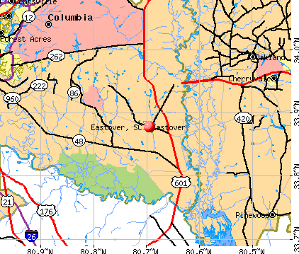 Eastover, SC map
