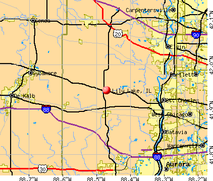 Lily Lake, IL map