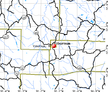 Viburnum, MO map