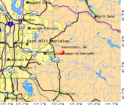 Ravensdale, WA map