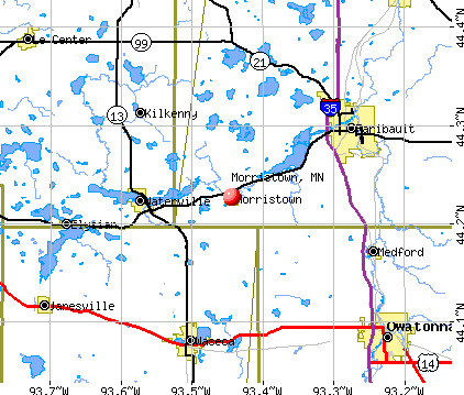 Morristown, MN map