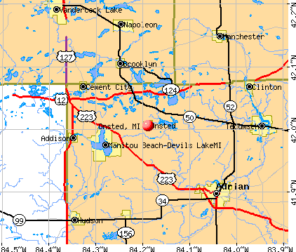 Onsted, MI map