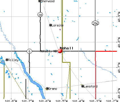 Mohall, ND map