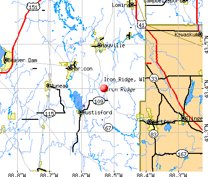 Iron Ridge, WI map