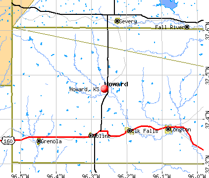 Howard, KS map