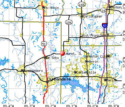 Hurst, IL map