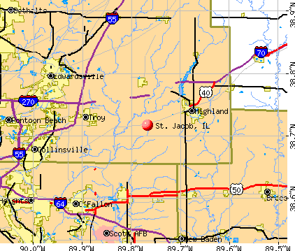 St. Jacob, IL map