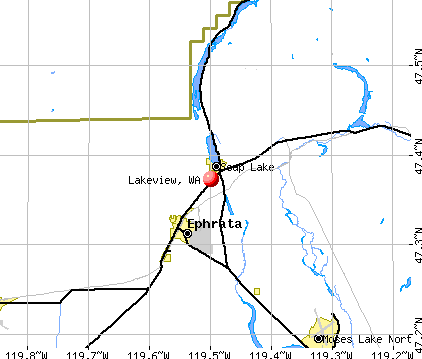 Lakeview, WA map