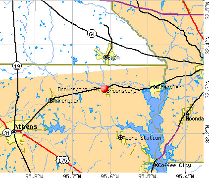 Brownsboro, TX map