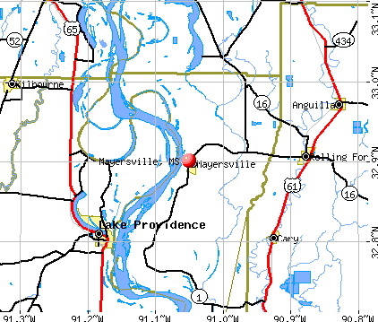 Mayersville, MS map