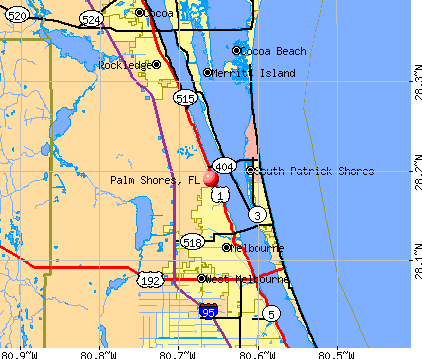 Palm Shores, FL map